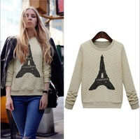 New 2014 spring women's fashion long-sleeved sweater pattern casual tower sweaters women Free shipping