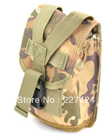 Free Shipping 5 pcs Fashion Military Camping Bag Green Camo Backpack Attached Bottle Bag,Military Backpack Attached Bag #HW186