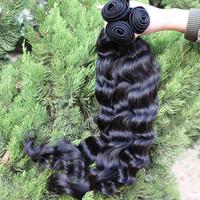 UPS Free Shipping 5A Unprocessed Malaysian Virgin Hair Loose Wave 3pcs Lot Human Hair Extensions Natural Black Color Hair Weave
