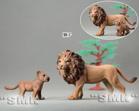 1 set= 2 pieces.Father and baby. The Lion animal model. animal toys for children