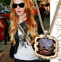 New 2013 European America Beautifully Vintage Wild Leopard Necklace&Pendants Items Jewelry Sweater Chain wholesale 10Pcs/Lot