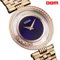 ladies watch women wristwatches  Dom  ultra-thin  gold     luxury quartz      dress watches relogio feminino reloj mujer montre
