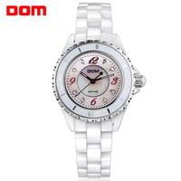 ladies watch women wristwatches    Dom white ceramic     dive casual quartz     dress watches relogio feminino reloj mujer femme