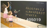 Free Express Vinyl Blackboard Sticker 1set =200x45cm Self-adheasive Wallpaper +5pcs Chalk Removable Furniture Wall Decor Notice