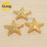 20mm Star Studs Golden Punk Rock leathercraft DIY Rivet Spikes/wholesale/Free Shipping 250pcs GZ019-20G
