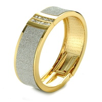 Fashion Design Plated Casual Texture of Metal Exaggerated Cuff Bracelets Bangle for Women