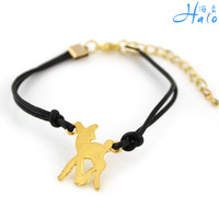 Free Shipping 12pcs/lot  fashion gold deer bracelet bangle new style casual accessories jewelry for women B00-1052
