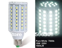 Free shipping + 2014 Milight Lamps 15W E27 86 x 5050 Cool White LED Corn Bulb
