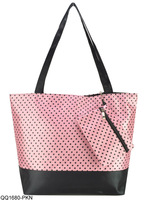 2013-2014 Fashion Cute Dot Print Ladies Shopping Bag With Small Bag, Promotion!!! SS1680