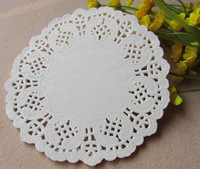 Free Shipping White Round Paper Lace Doilies Placemat Craft Doyleys Wedding Tableware Decoration 5.5 inch