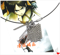free shipping japan anime Attack on Titan Shingeki no Kyojin Surveys Corps Badge  necklace b2273