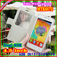 New THL W100 MTK6589 Dual Sim Android phone 8MP 4.5inch Dual Camera Rom 4GB 960*540 1.2GHz 8.0MP Dual Camera with Gift Provide