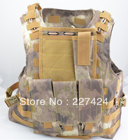 Free Shipping 5 pcs Brown Camo Nylon MOLLE Tactical Military Army Combat Paintball Vest,Military Vest/Tactical Vest #HW192