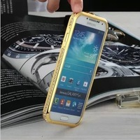 Luxury Bling SWAROVSKI Diamond Bumper Frame Cases for I9500 Galaxy S IV Metal+PC Material Crystal Fashion Style Cover for  S4