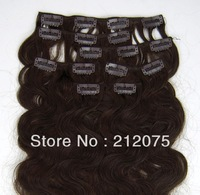 """12""""-26""""inches 7pieces/70grams/set Mix length Brazilian Virgin hair  Body wave Clip in  Extensions  3sets/lot"""