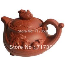 Yixing Large Size Mandarin Duck Teapot Kungfu Tea Set Zisha Purple Clay Tea Pot