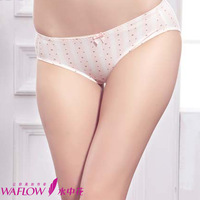 free shipping Illusion women's cotton trigonometric panties women's low-waist 100% antibiotic cotton shorts print 512086
