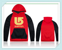 2014 Newest burton men/women red and black hoodie and jacket,sports hip hop mens cotton long sleeve good quality winter hoody