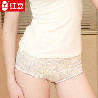free shipping Globalsources 5 panty pure cotton elastic sexy transparent small seamless panties