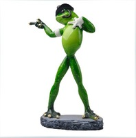 Free shipping  Singer MJ Funny Creative Furnishing articles Birthday/Wedding Gift Resin crafts Frog shaped Home Decoration