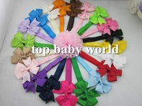 "new design 60pcs/lot  3"" baby ribbon bows  headband hairband kids' hair accessories  children accessories  Baby Boutique bows"