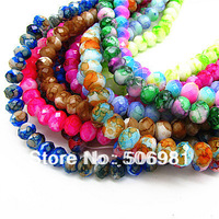 8mm 360pcs Fashion High Quality Mix Color Cut Surface Glass Jewelry Loose Beads for DIY Necklace&Bracelet Free Shipping HC308