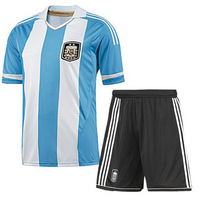 New arrival Argentina 2014 world cup home Blue jersey football jerseys top thai quality soccer uniforms,Free shipping