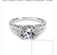 TACORI NEW Platinum 14k White Gold Engagement Diamond Ring below COST