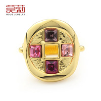 Molie ring female fashion accessories chinese style copper crystal ring finger ring
