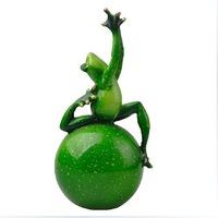Free shipping Yoga(3) Funny Creative Furnishing articles Birthday/Wedding Gift Resin crafts Frog shaped Home Decoration