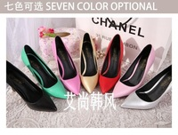 2014New fashion pumps pointed toe thin heels sexy fashion mei pink formal ol single shoes autumn shoes woman pump Free shipping