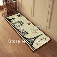 New year sale!1pcs ZAKKA Coton Linen Anti Slip floor mat Effiel tower slip-resistant Door mat /carpet mats /rug mat 100X40CM  M2