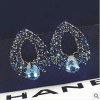 Free Shipping High-grade droplets blue demon ji luxury stud earrings ESY-090