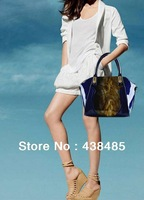Fashion Handbag Branded Designer Shoulder Bag High Quality Patent Leather Women Tote 4 Colors