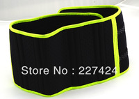 Free Shipping Velcro Fastener Adjustable Green Edge Waist Support Wrap Brace Protector,Waist Protection Belt #HW194