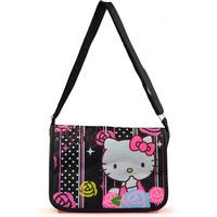 Hot sale 2014 New arrive hello kitty messenger bag Children's school bag Canvas character satchel bags Girl schoolbag
