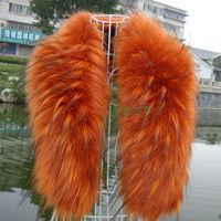 Red jacquard fox fur collar raccoon fur collar fur cap of son false collar muffler scarf cape thermal