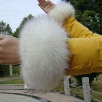 An extra pair cuff fox fur cuff hand ring wristiest gloves fur wrist length 1053