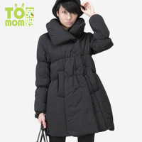 Maternity clothing winter thickening thermal long design thickening wadded jacket cotton-padded jacket warm comfortable