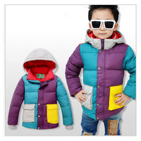 2014 Unisex Sunlun Free Shipping winter coats and jackets for children Hooded Solid children jackets & coats duck's down
