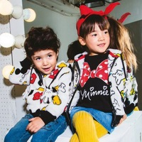 Free Shipping(5pcs/lot)Fashion boys and girls minnie mouse and mickey mouse printed hoodies children hoodies kids sweatshirts