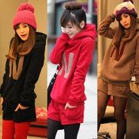 Women Long Sleeve Hooded Set Casual Sport Hoodie Sweatshirt+Short Pants Suit Set 76986-76994