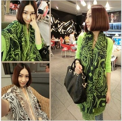 180 * 90 women scarf shawl Persian style 2013 fashionable Hot! 4 color designer printed scarf winter free shipping(China (Mainland))