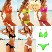 Hot selling super micro bikini sexy Brazil beach steel bracket swimsuit women fashion mix color biquini sale being top quality