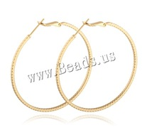 Free shipping!!!Brass Hoop Earring,DIY,Jewelry DIY, Donut, 18K gold plated, nickel, lead & cadmium free, 1.5mm, 50mm