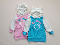 Children's clothing spring and autumn female child with a hood pullover sweatshirt 100 - 160