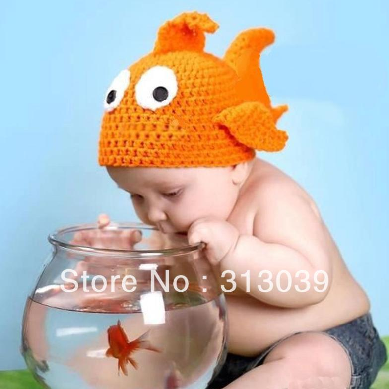 Hot Sale Fish Kids Unisex Winter Hats woolen knitted elastic Cute Baby cap H6301 one free shipping(China (Mainland))