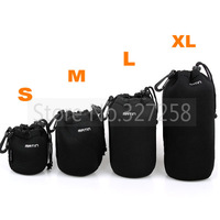4PCS Matin Camera Bag Lens Case Bag Waterproof Bag Size S/M/L/XL Neoprene Soft Protector