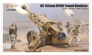 Plastic model kit 61602 US 155mm M198 Towed Howitzer(China (Mainland))