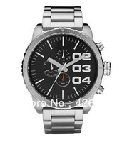 New DZ4209 4209 Mens Black Dial Stainless-Steel Bracelet Watch
